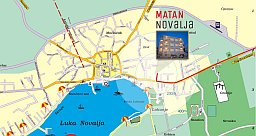 Map of City of Novalja
